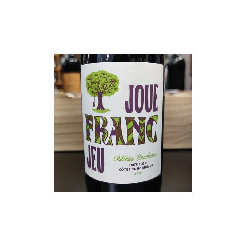 Joue Franc Jeu 2019 Château Brandeau Côtes de Bordeaux Castillon - 75cl